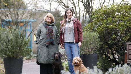 Das neue und alte Hundetherapieteam des Zentrums für Palliativmedizin